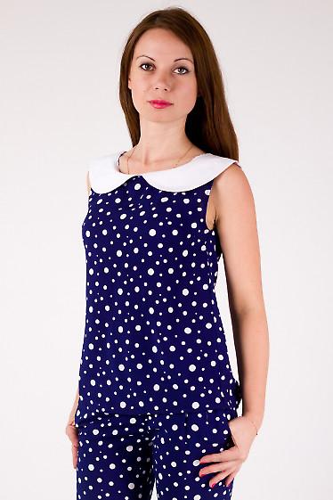 Фото Блузка из штапеля в горох Деловая женская одежда