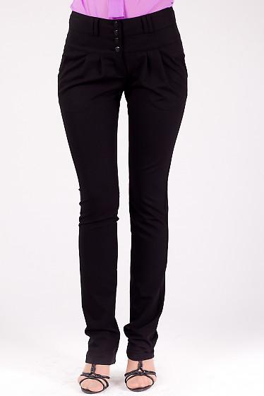 Фото Брюки зауженные к низу черные Деловая женская одежда
