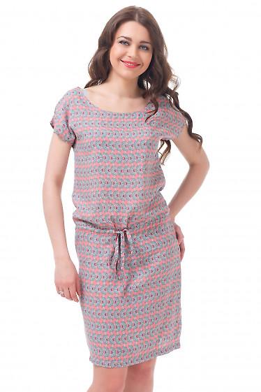 Платье розовое с кулиской Деловая женская одежда