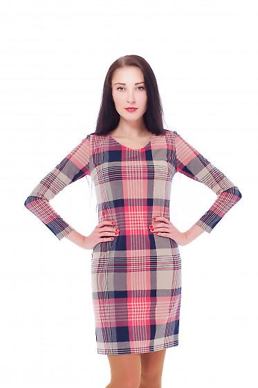 Купить платье в розовую клетку Деловая женская одежда