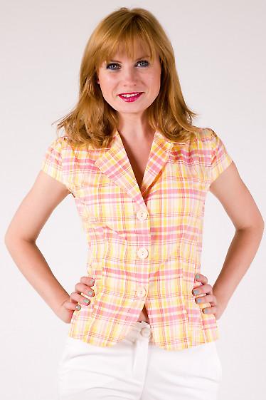 Фото Жакет в цветную клетку Деловая женская одежда