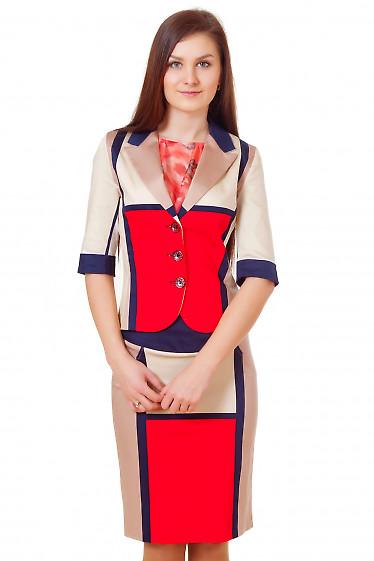 Жакет в крупные квадраты Деловая женская одежда