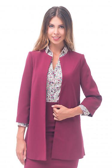 Кардиган бордовый Деловая женская одежда