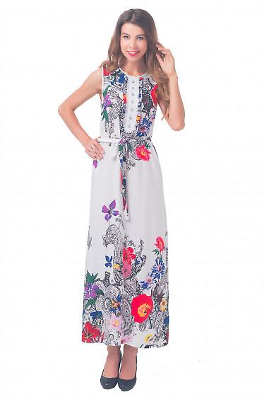 Платье длинное с белым кружевом Деловая женская одежда