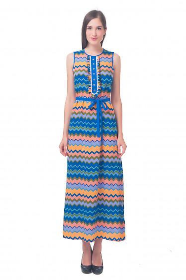 Платье длинное с рюшами Деловая женская одежда