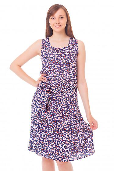Сарафан синий в ромашки Деловая женская одежда