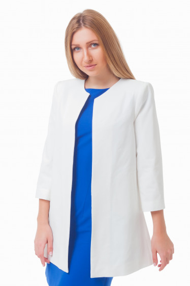Жакет-кардиган молочный Деловая женская одежда