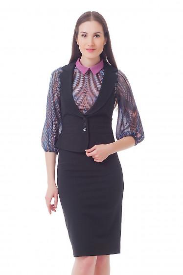 Жилет женский черный стильный Деловая женская одежда