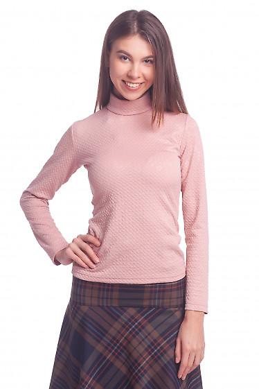 Джемпер розовый со стойкой Деловая женская одежда