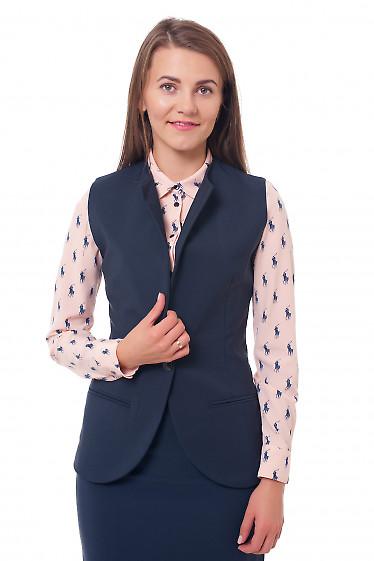 Жилетка на флисе синяя Деловая женская одежда фото