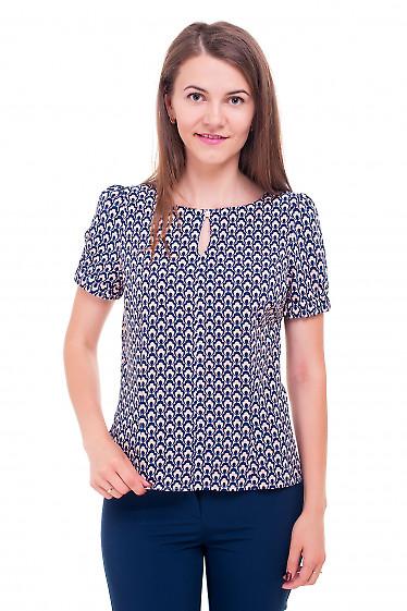Блузка персиковая с капелькой Деловая женская одежда фото