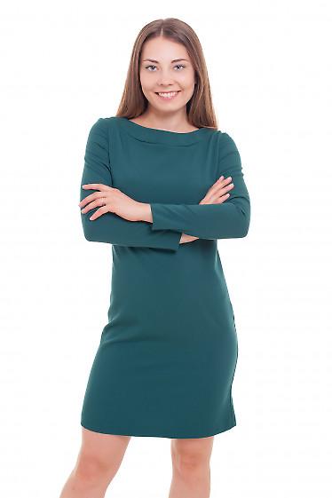 Платье прямое зеленое Деловая женская одежда фото