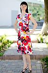 Платье летнее цветастое Деловая женская одежда