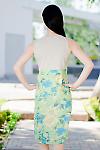 Платье летнее салатовое вид сзади  Деловая женская одежда