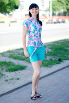 Шорты голубые Деловая женская одежда
