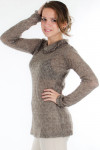 Свитер коричневый Деловая женская одежда
