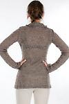 Свитер коричневый вид сзади Деловая женская одежда