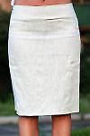 Юбка льняная со складками вид спереди Деловая женская одежда