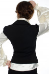 Жилет черный с воротником вид сзади  Деловая женская одежда