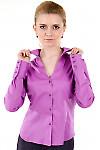 Фото Блузка классическая сиреневая Деловая женская одежда