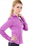 Фото 2 Блузка классическая сиреневая Деловая женская одежда