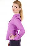 Фото Блузка классическая сиреневая 3 Деловая женская одежда