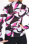 Фото Блузка с бордовыми разводами вид сзади Деловая женская одежда