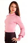 Фото Гольф бледно-розовый. Вид сбоку Деловая женская одежда