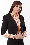 Жакет черный короткий Деловая женская одежда