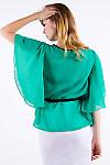 Фото Блузка с пояом Деловая женская одежда