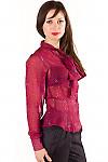 Блузка красная с бантом