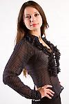 Фото Блузка нарядная в горошек Деловая женская одежда