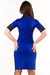 Платье синее Деловая женская одежда