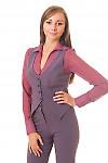 Купить сиреневую жилетку Деловая женская одежда