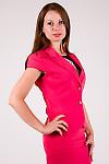 Фото Жакет с коротким рукавом коралловый Деловая женская одежда