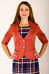 Фото Жакет рыжий Деловая женская одежда