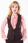 Фото Жилетка коричневая теплая Деловая женская одежда