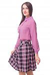 Купить блузку фрезовую с бантовой складкой Деловая женская одежда