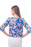 Фото Блузка в крупные цветы Деловая женская одежда