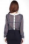 Фото Блузка с застежкой по спинке Деловая женская одежда
