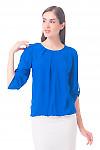 Купить блузку цвета индиго Деловая женская одежда