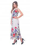 Купить платье длинное с белым кружевом Деловая женская одежда