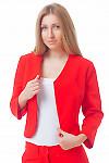 Жакет-болеро красного цвета Деловая женская одежда