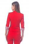 Фото Жакет красный Деловая женская одежда