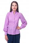 Блузка сиреневая со стойкой Деловая женская одежда
