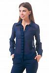 Фото Блузка со складочками по планке Деловая женская одежда