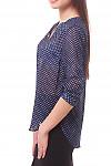 Купить блузку в мелкий горошек с планкой Деловая женская одежда