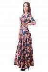 Фото Платье длинное в цветы Деловая женская одежда