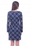 Фото Платье в клетку Деловая женская одежда