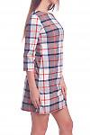 Купить платье в серо-белую клетку Деловая женская одежда